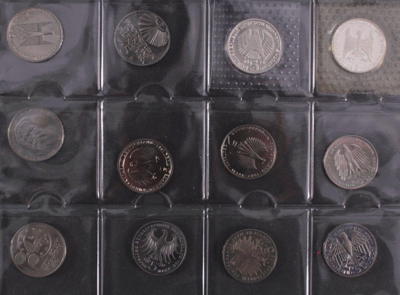 Kleine Sammlung 5 DM Münzen-4