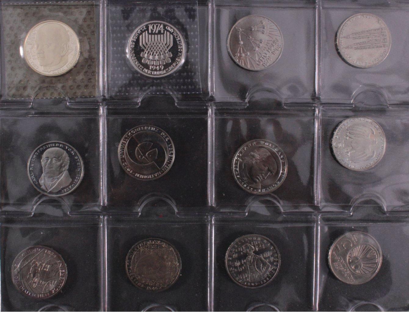 Kleine Sammlung 5 DM Münzen-7