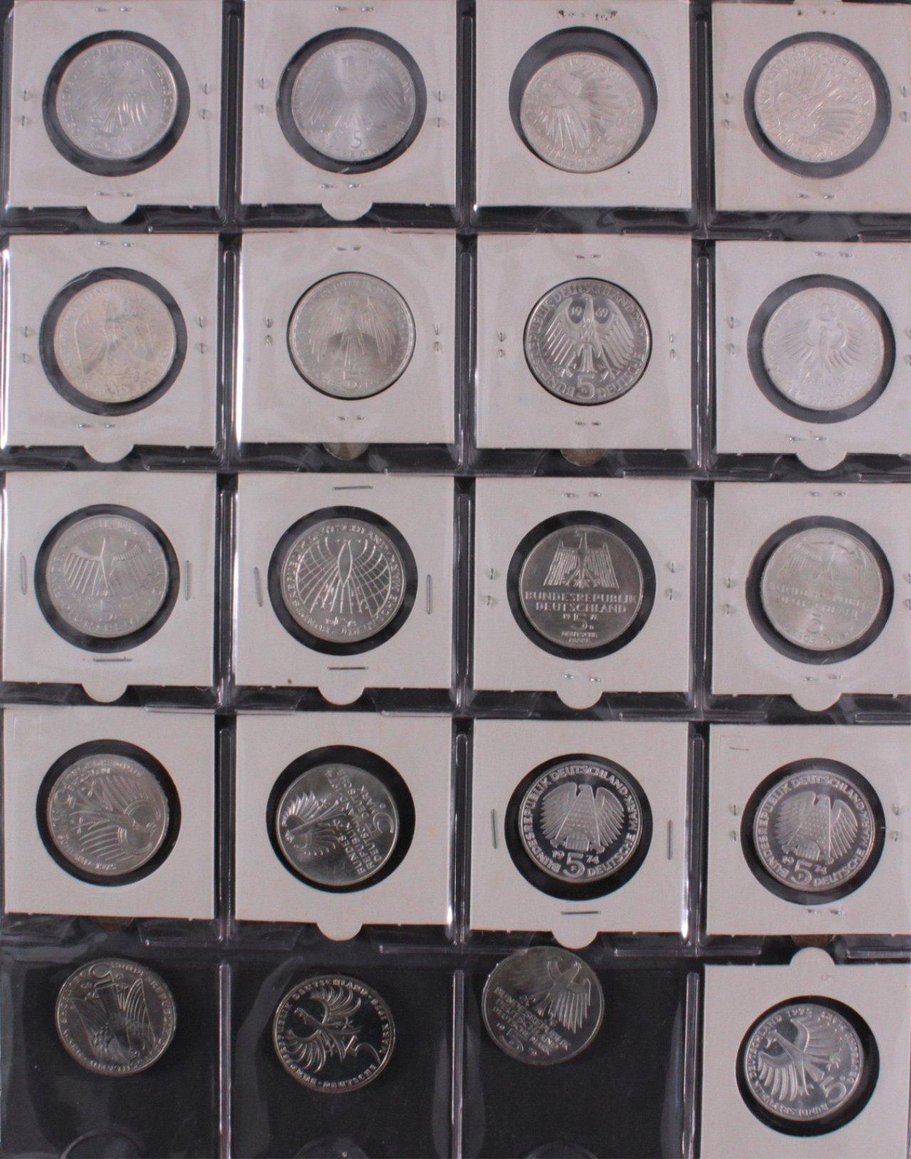 Kleine Sammlung 5 DM Münzen-8