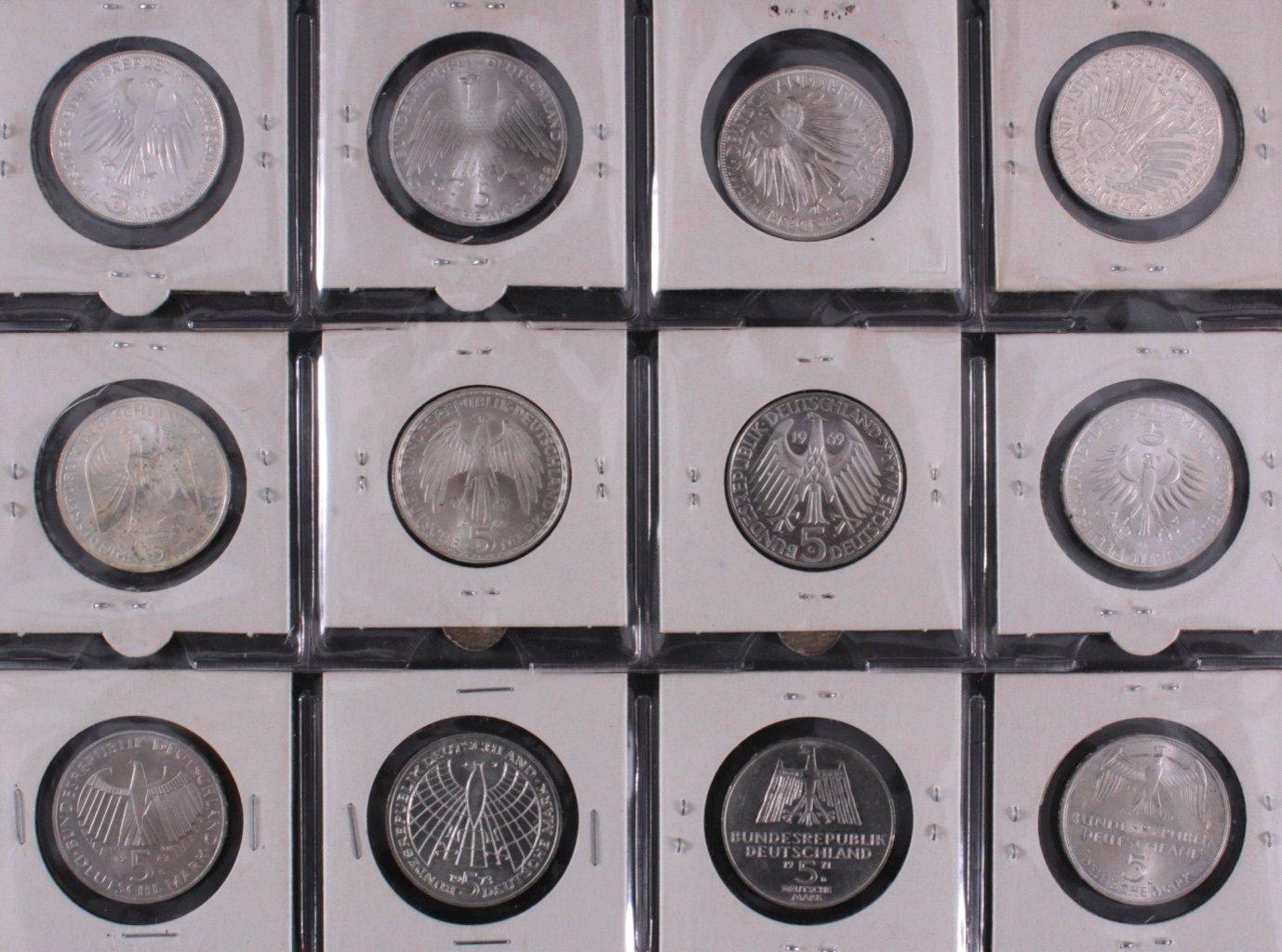 Kleine Sammlung 5 DM Münzen-9