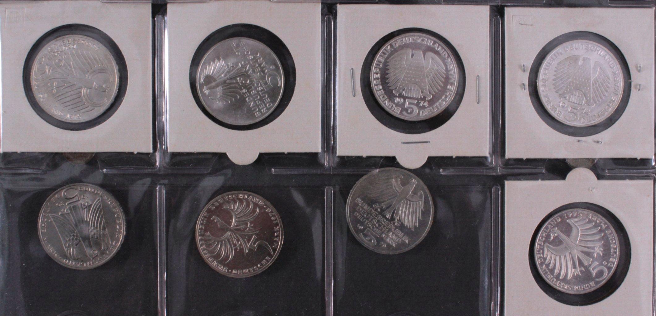 Kleine Sammlung 5 DM Münzen-10
