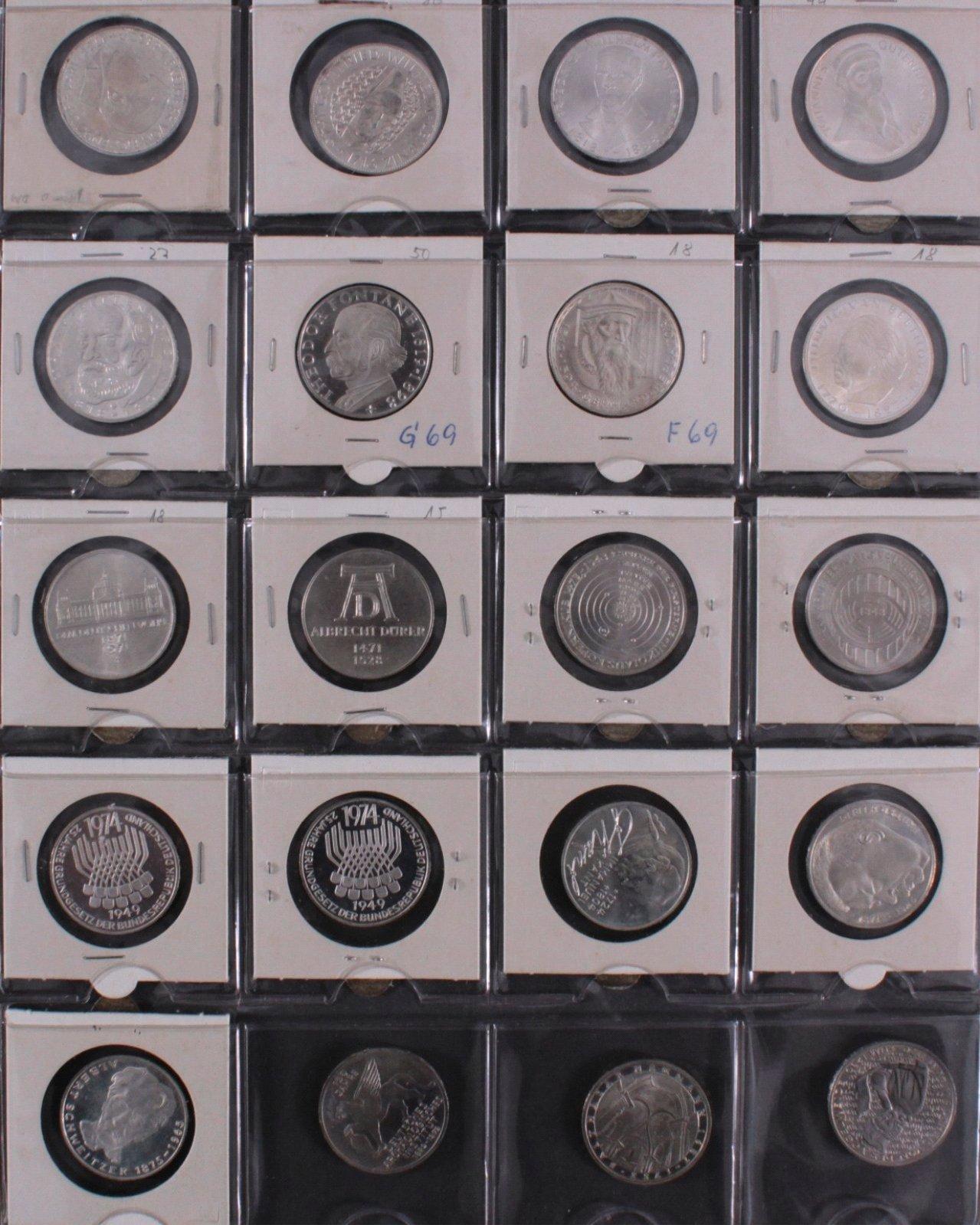 Kleine Sammlung 5 DM Münzen-11