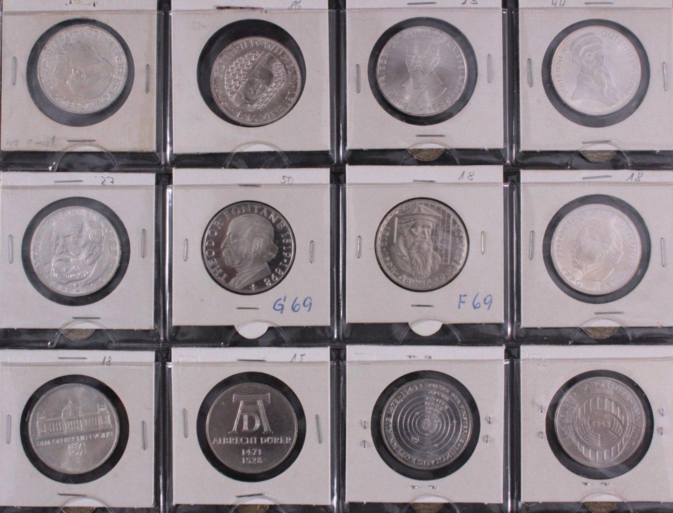 Kleine Sammlung 5 DM Münzen-12