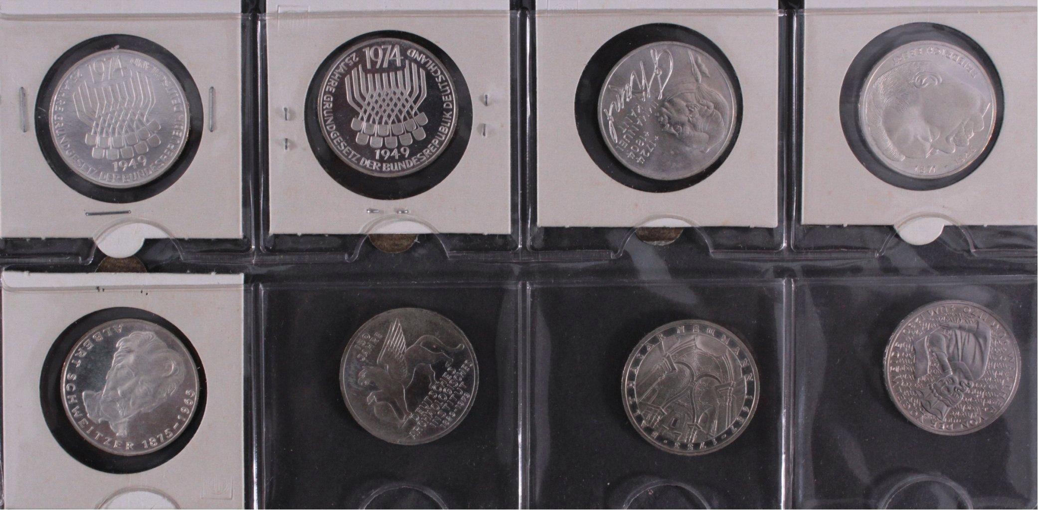 Kleine Sammlung 5 DM Münzen-13
