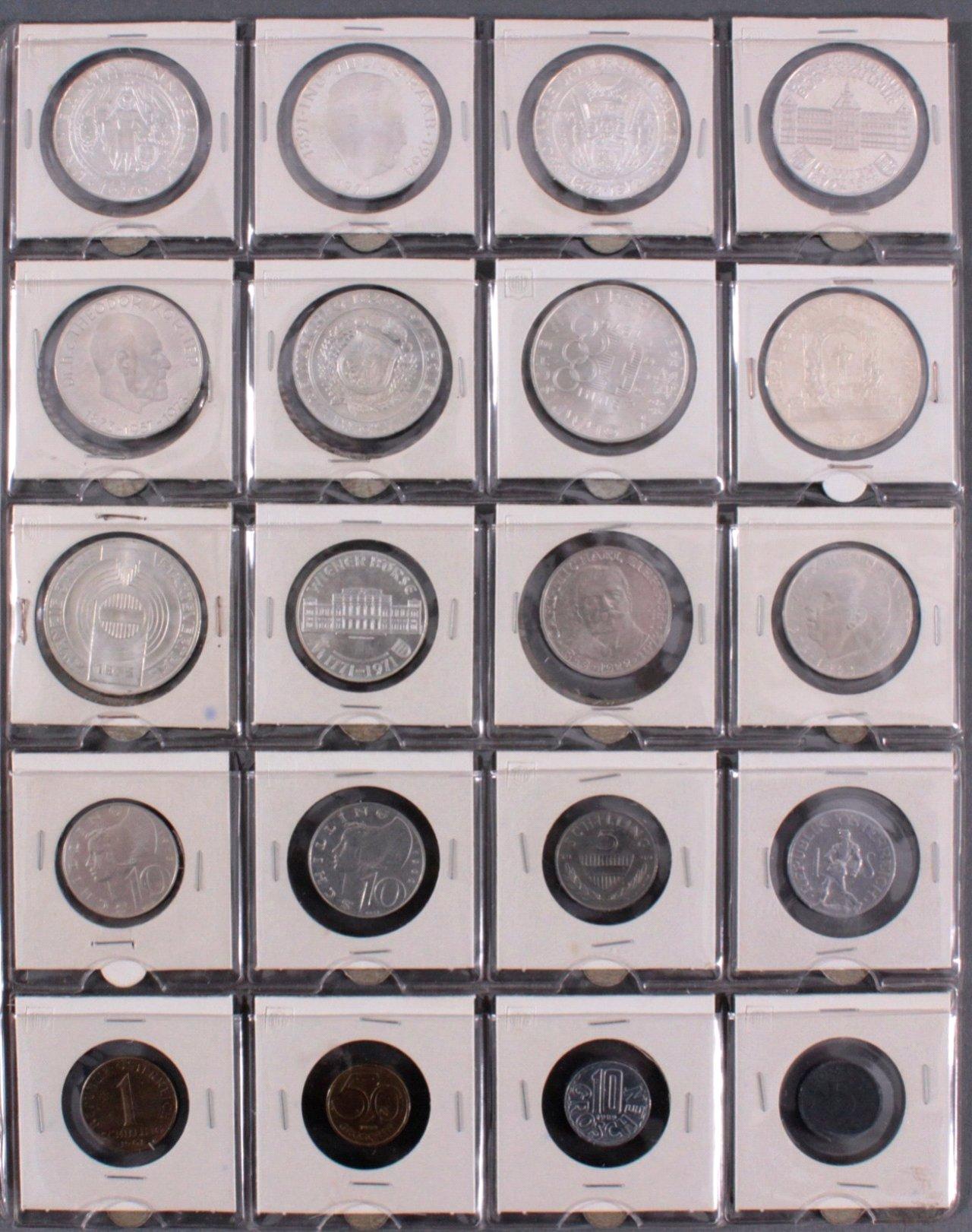 Kleine Sammlung Schilling Münzen