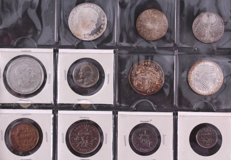 Kleines Konvolut Münzen, Deutsches Reich, BRD, Frankreich…-1