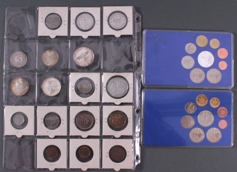 Kleines Konvolut Münzen, Deutsches Reich, BRD, Frankreich…-3