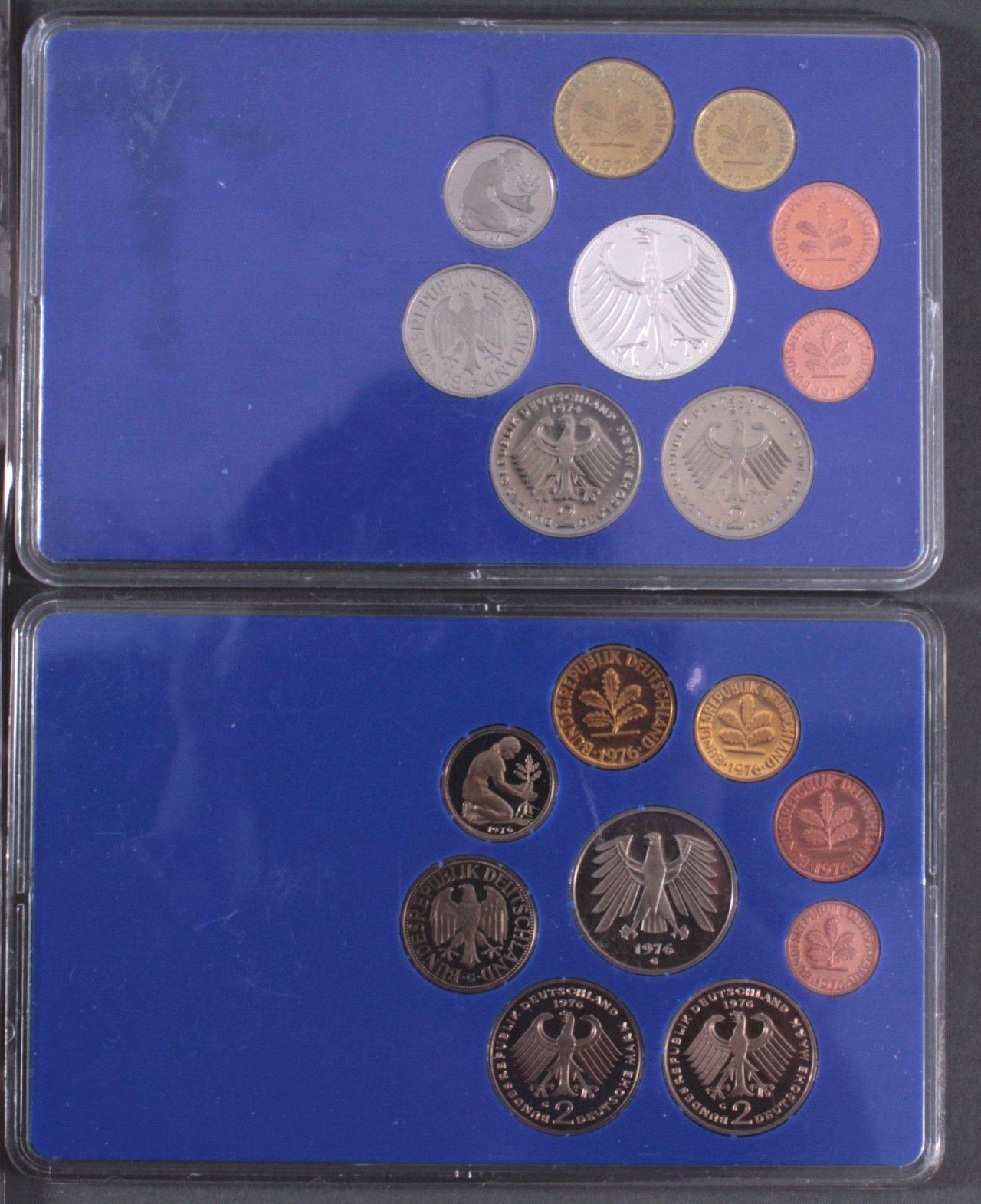 Kleines Konvolut Münzen, Deutsches Reich, BRD, Frankreich…-5