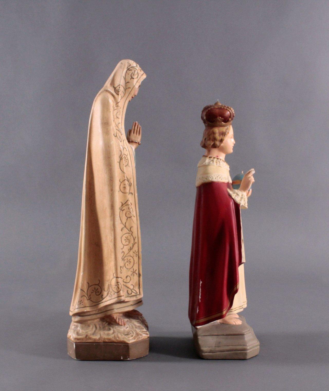 Zwei Heiligenfiguren, Lourdes-Madonna und Prager Jesuskind-1