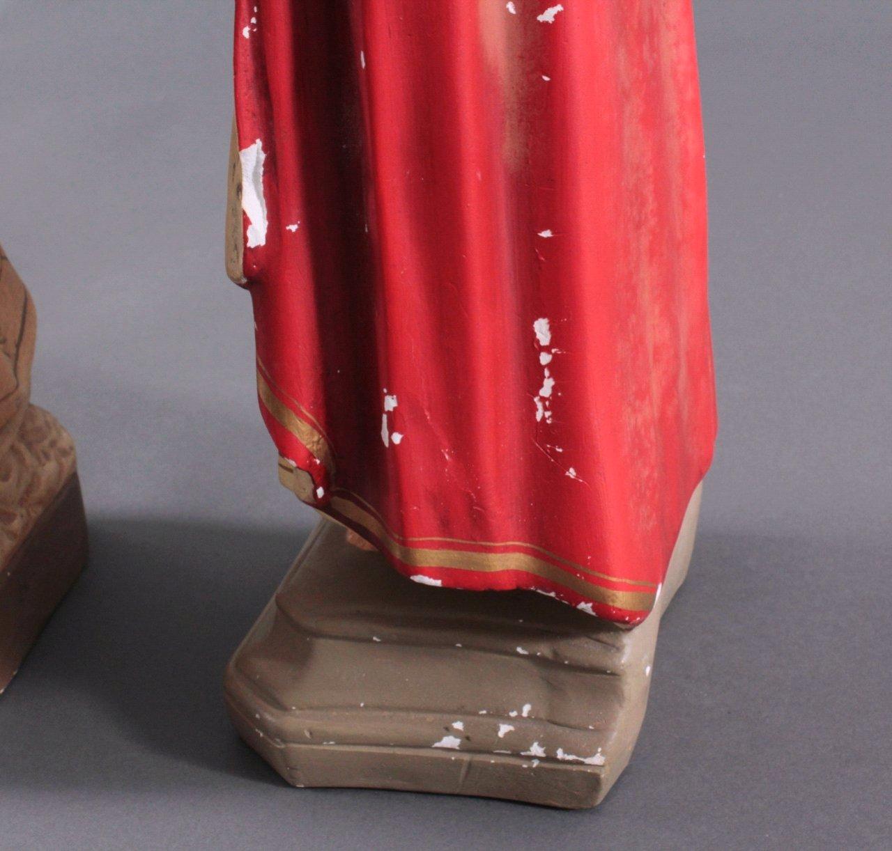 Zwei Heiligenfiguren, Lourdes-Madonna und Prager Jesuskind-4