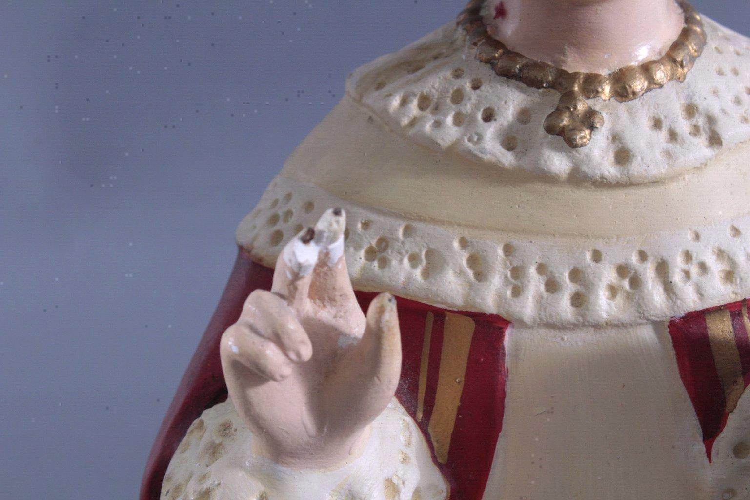 Zwei Heiligenfiguren, Lourdes-Madonna und Prager Jesuskind-6
