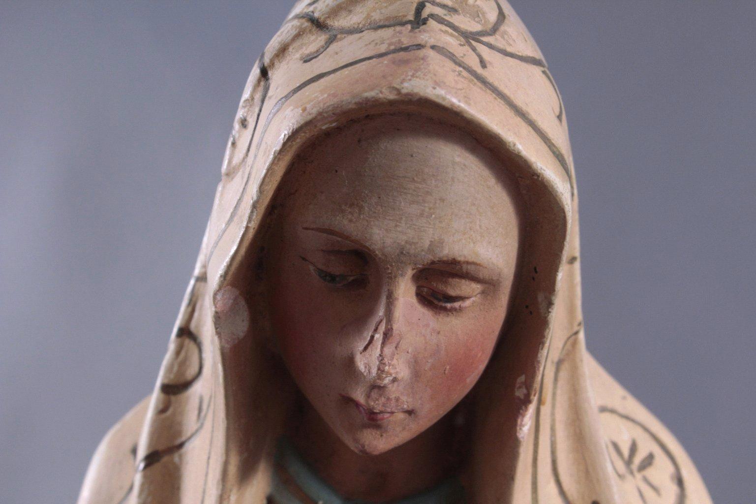 Zwei Heiligenfiguren, Lourdes-Madonna und Prager Jesuskind-7