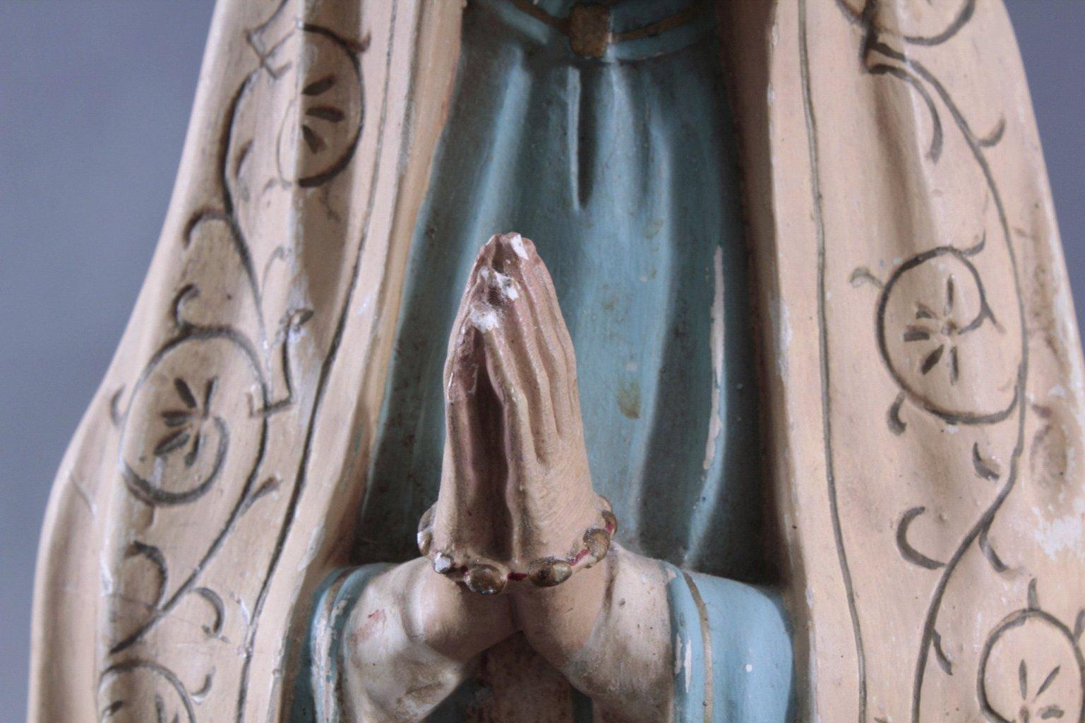 Zwei Heiligenfiguren, Lourdes-Madonna und Prager Jesuskind-8