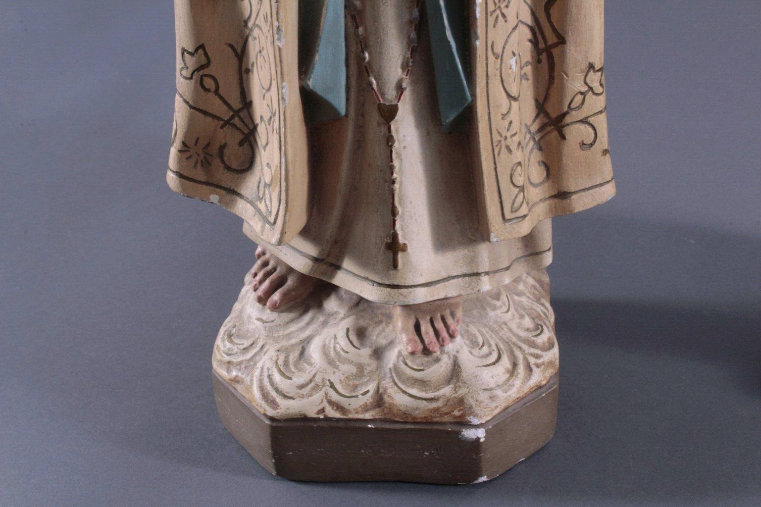 Zwei Heiligenfiguren, Lourdes-Madonna und Prager Jesuskind-9