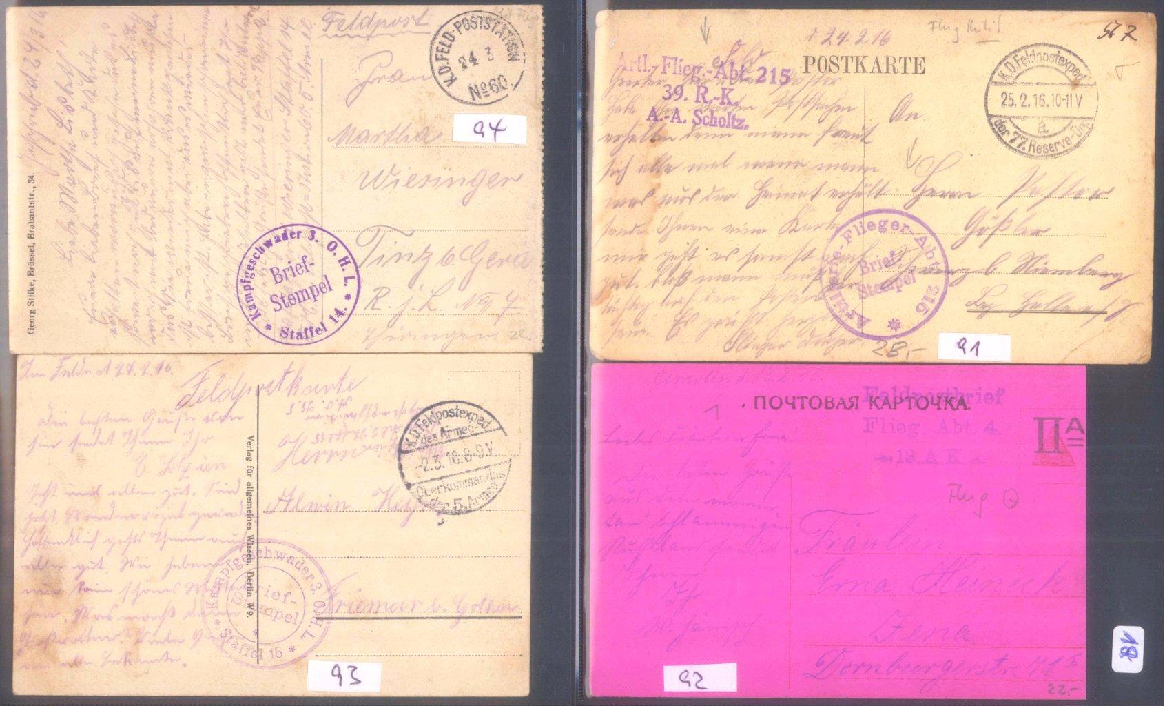 Sammlungsauflösung, Feldpost des ersten Weltkrieges-4