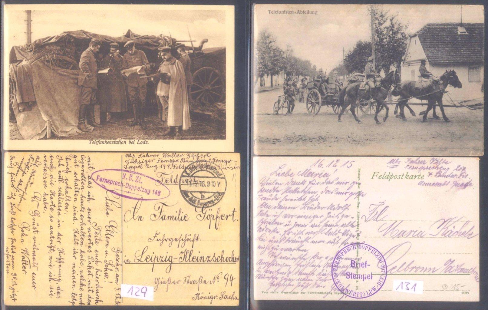 Sammlungsauflösung, Feldpost des ersten Weltkrieges-9