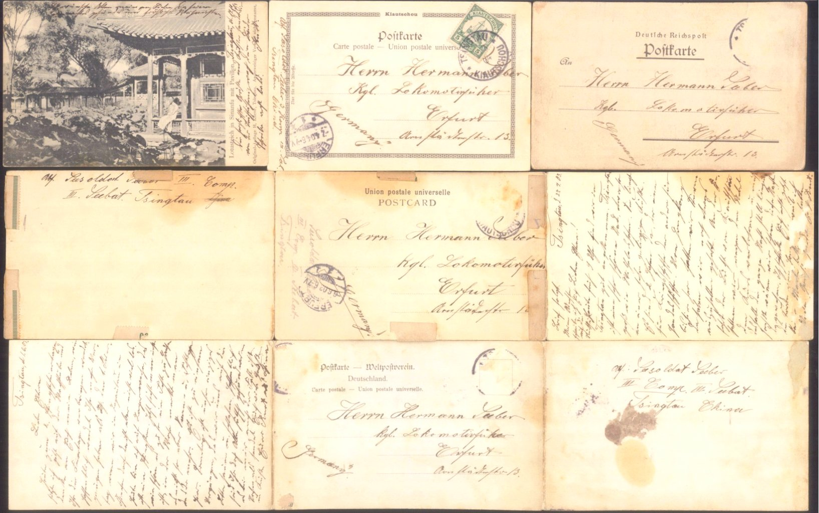 8 Postkarten aus Tsingtau-1