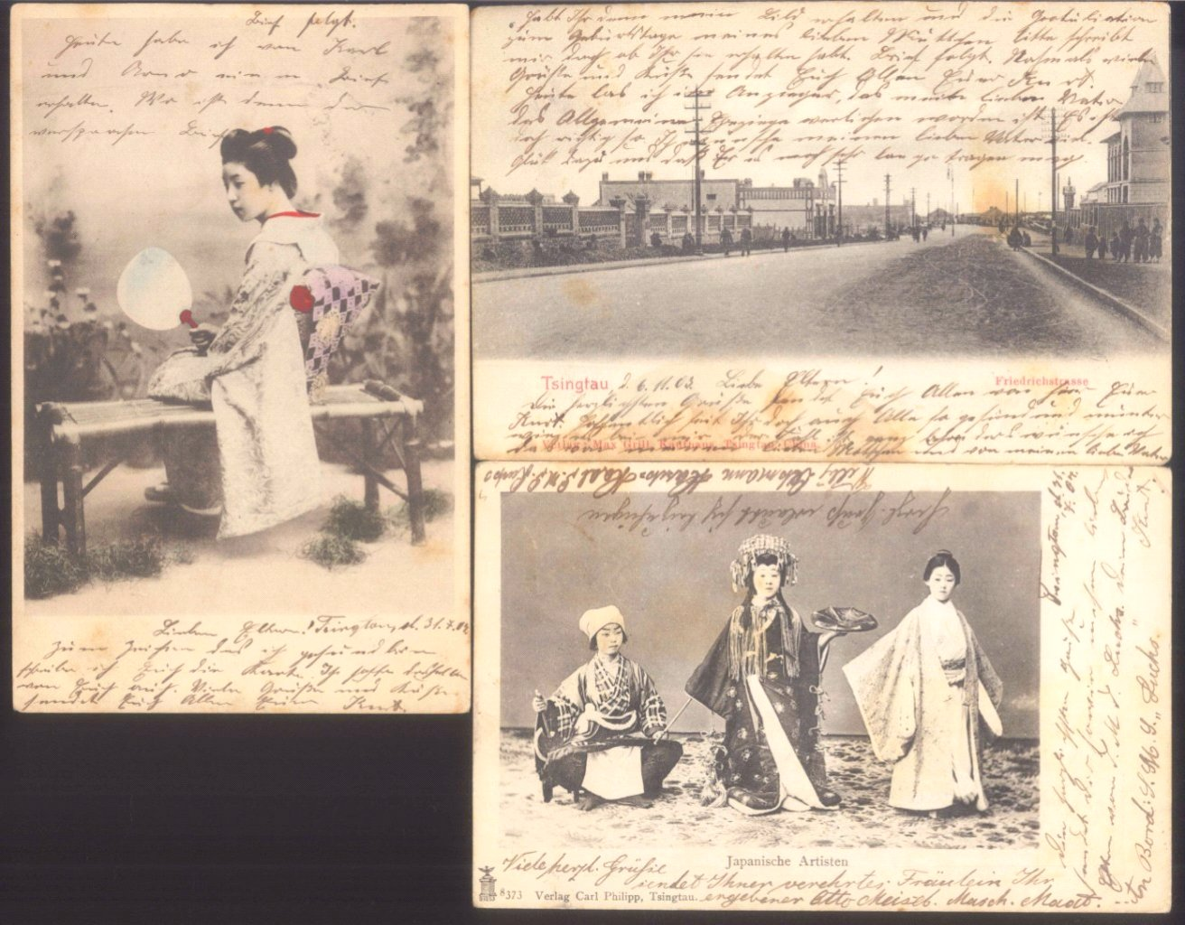 8 Postkarten aus Tsingtau-2