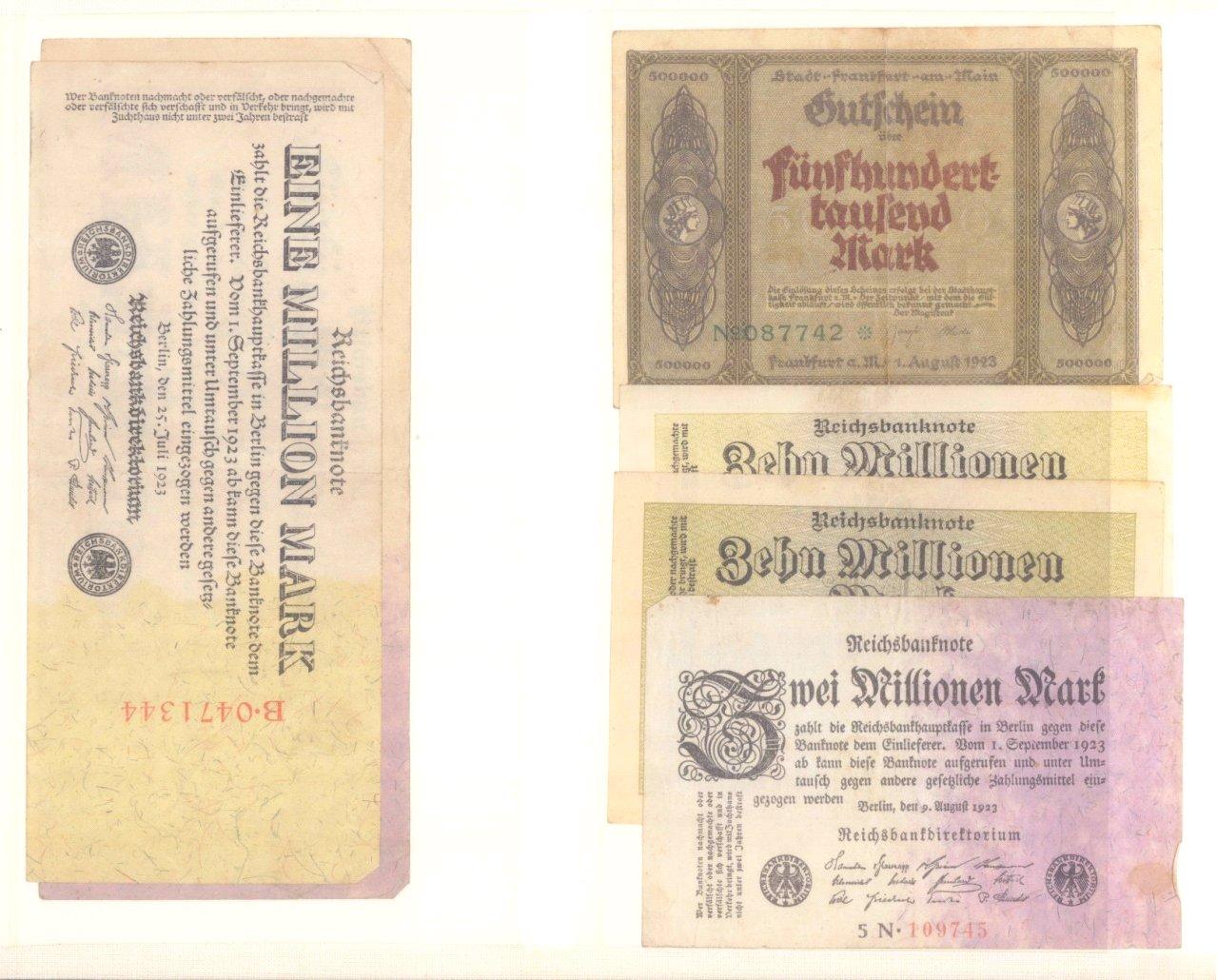 Banknoten, Notgeld, Belege-1