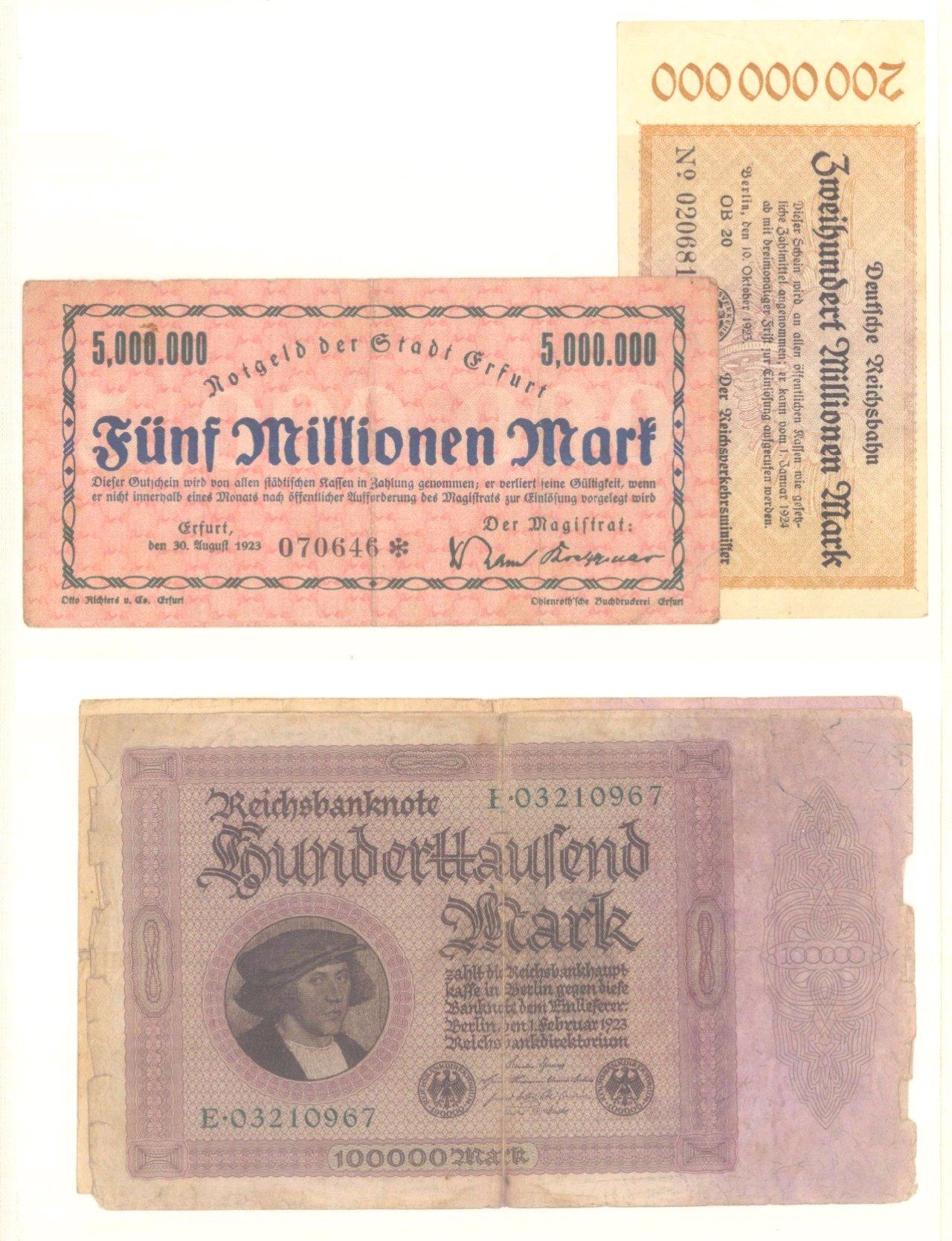 Banknoten, Notgeld, Belege-2