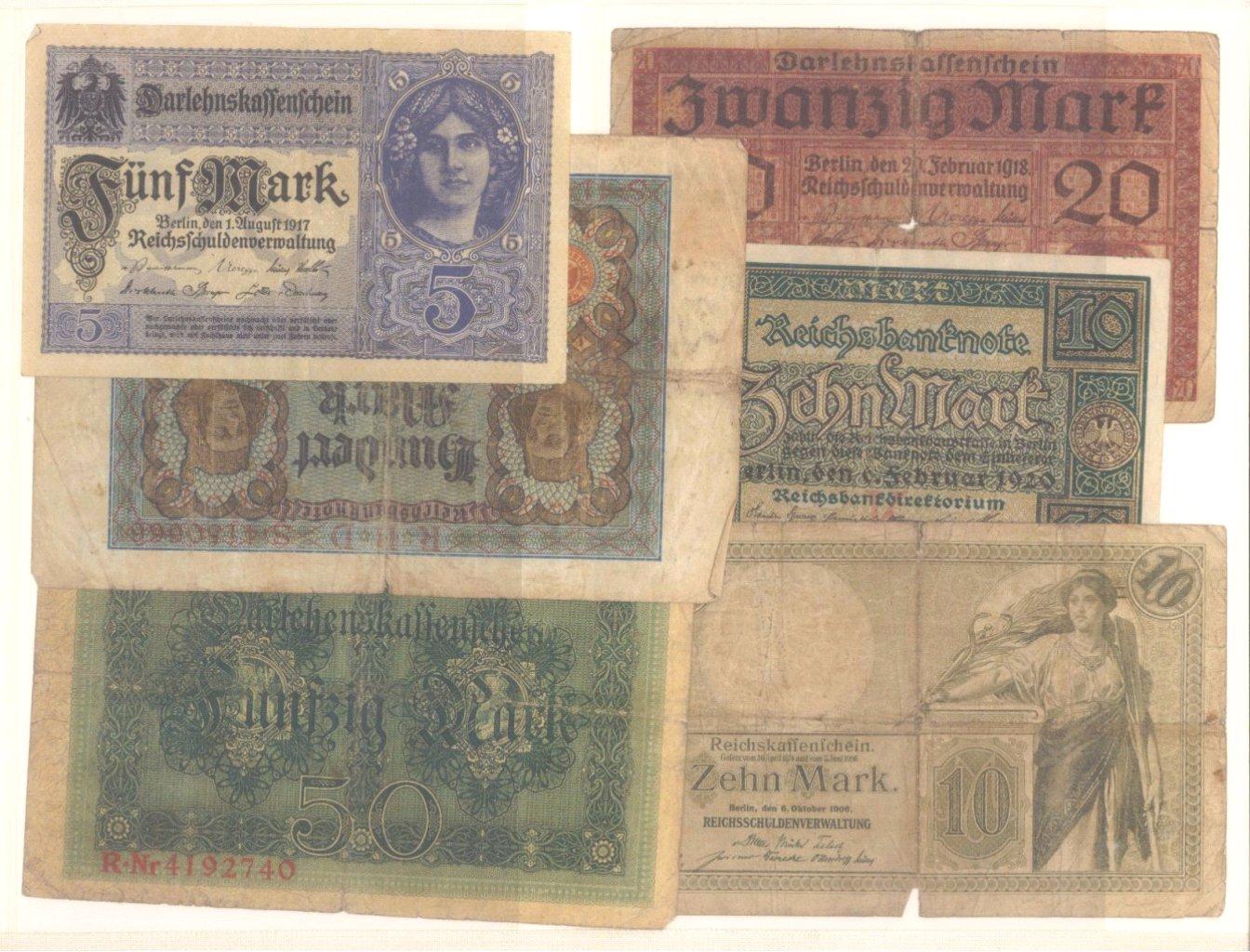 Banknoten, Notgeld, Belege-3