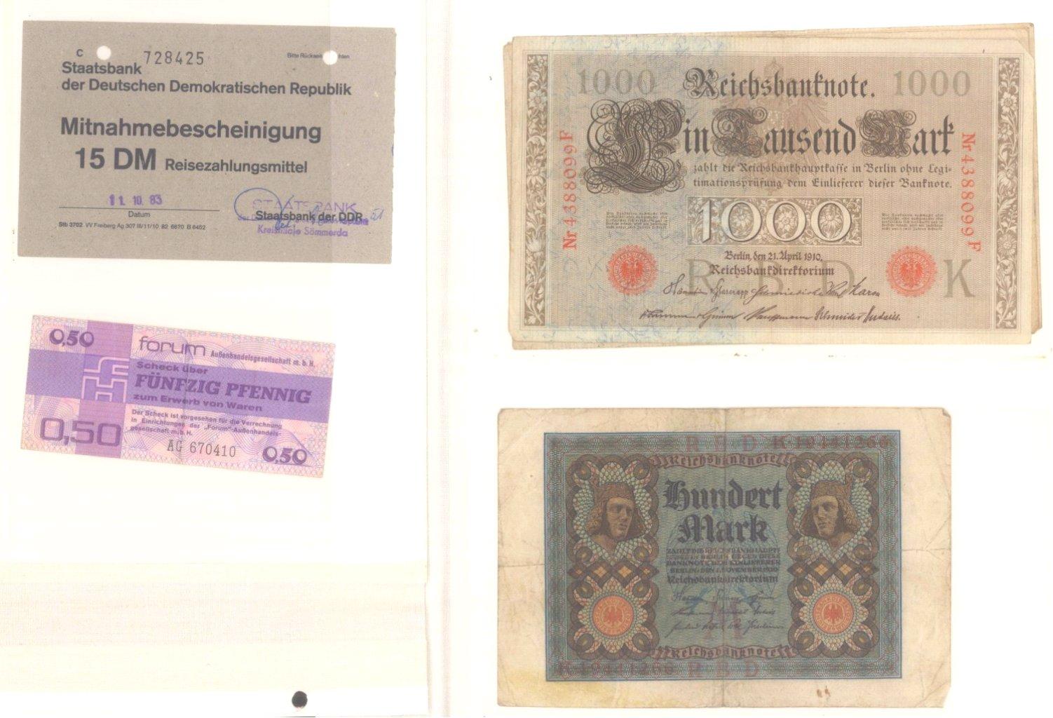 Banknoten, Notgeld, Belege-6