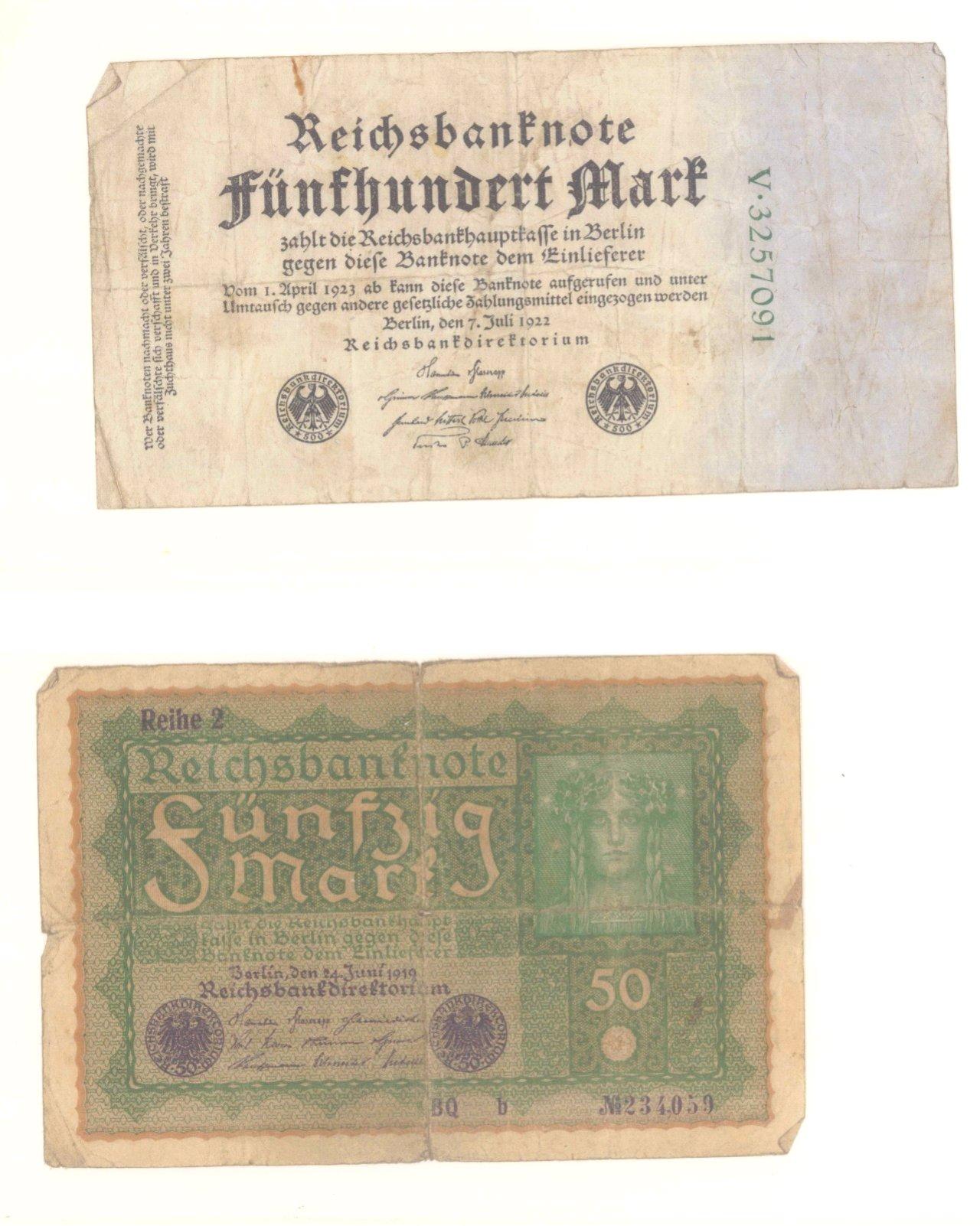 Banknoten, Notgeld, Belege-7