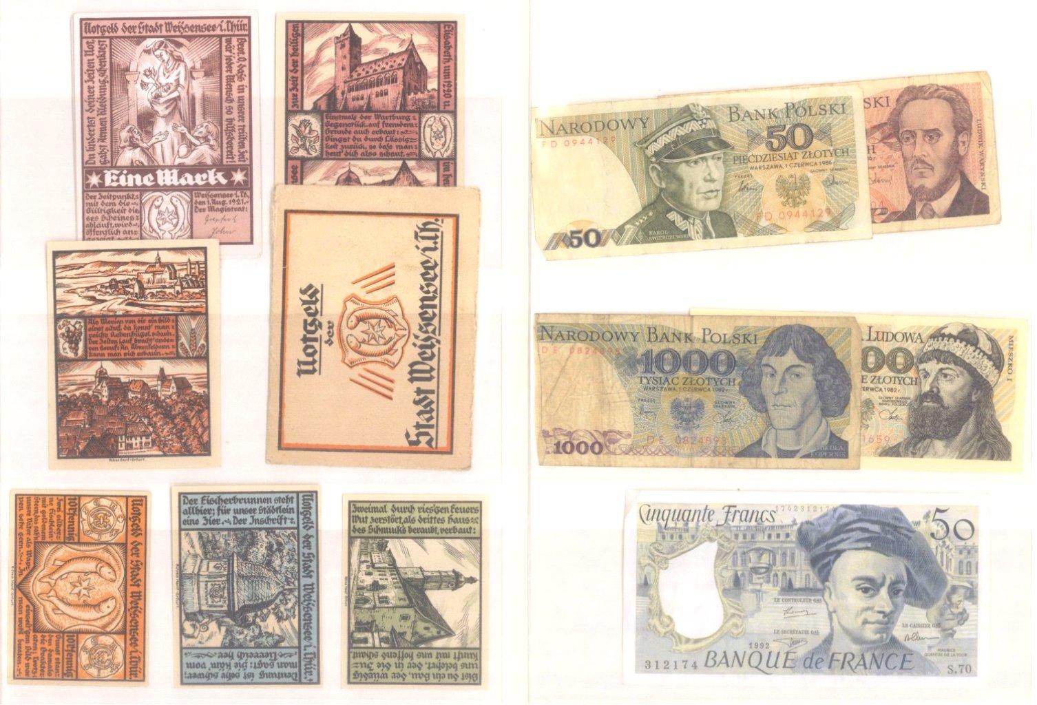 Banknoten, Notgeld, Belege-9