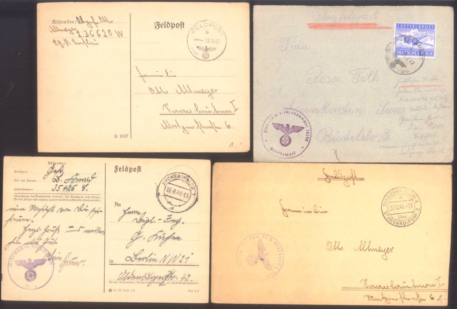 Ca. 70 Belege Feldpost und Kriegsgefangenenpost WK II-1