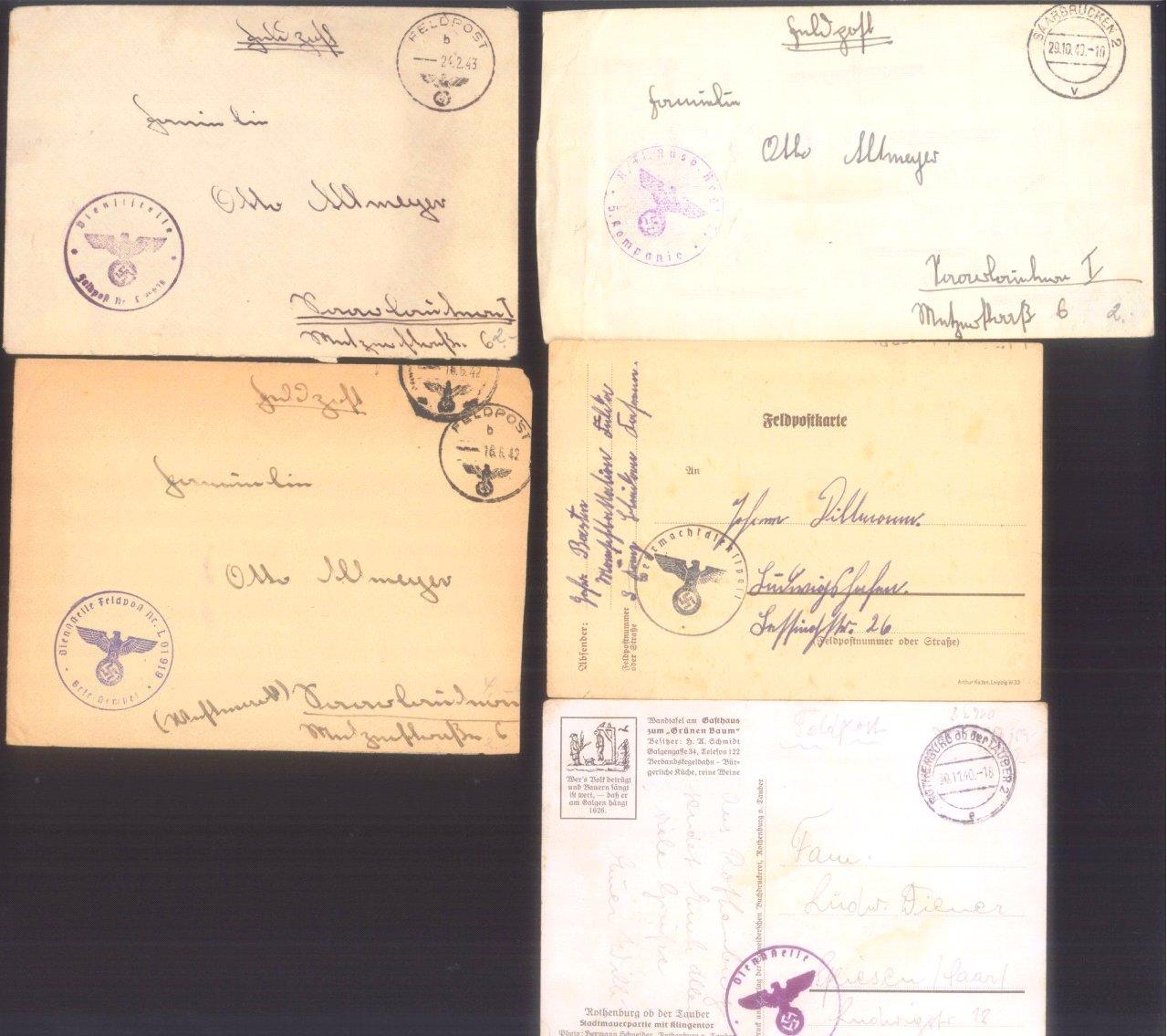 Ca. 70 Belege Feldpost und Kriegsgefangenenpost WK II-3