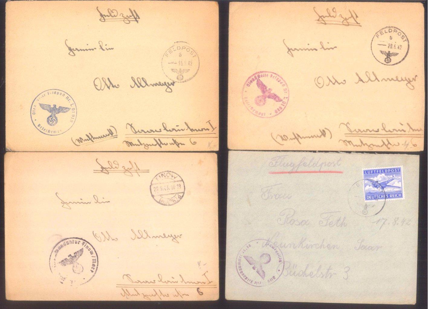 Ca. 70 Belege Feldpost und Kriegsgefangenenpost WK II-4