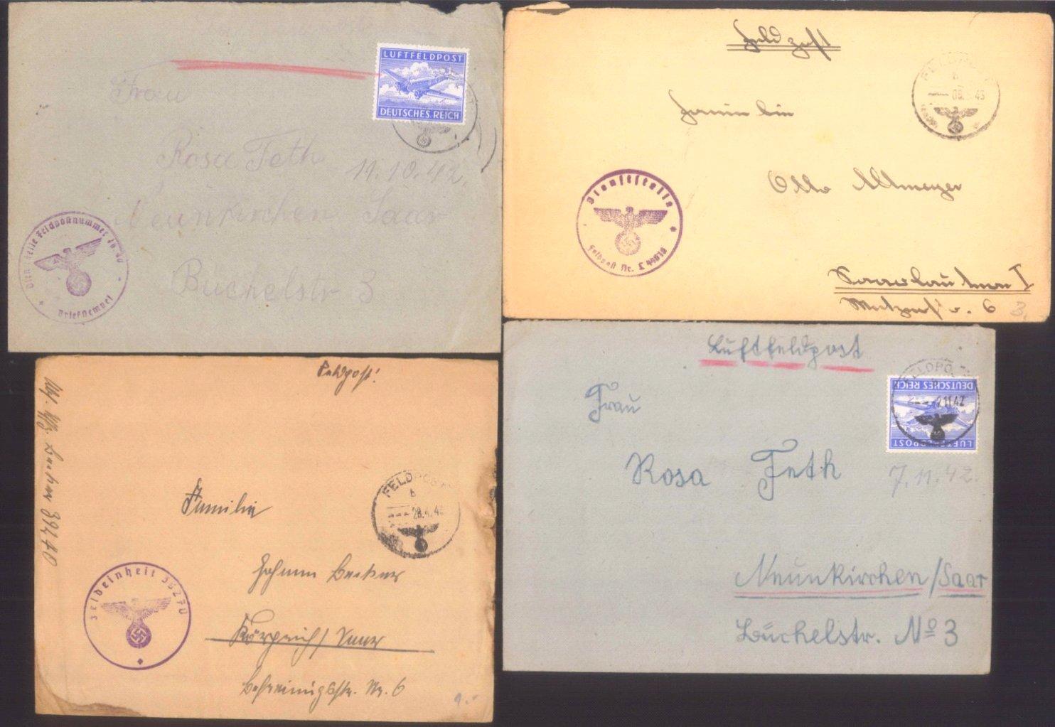 Ca. 70 Belege Feldpost und Kriegsgefangenenpost WK II-6