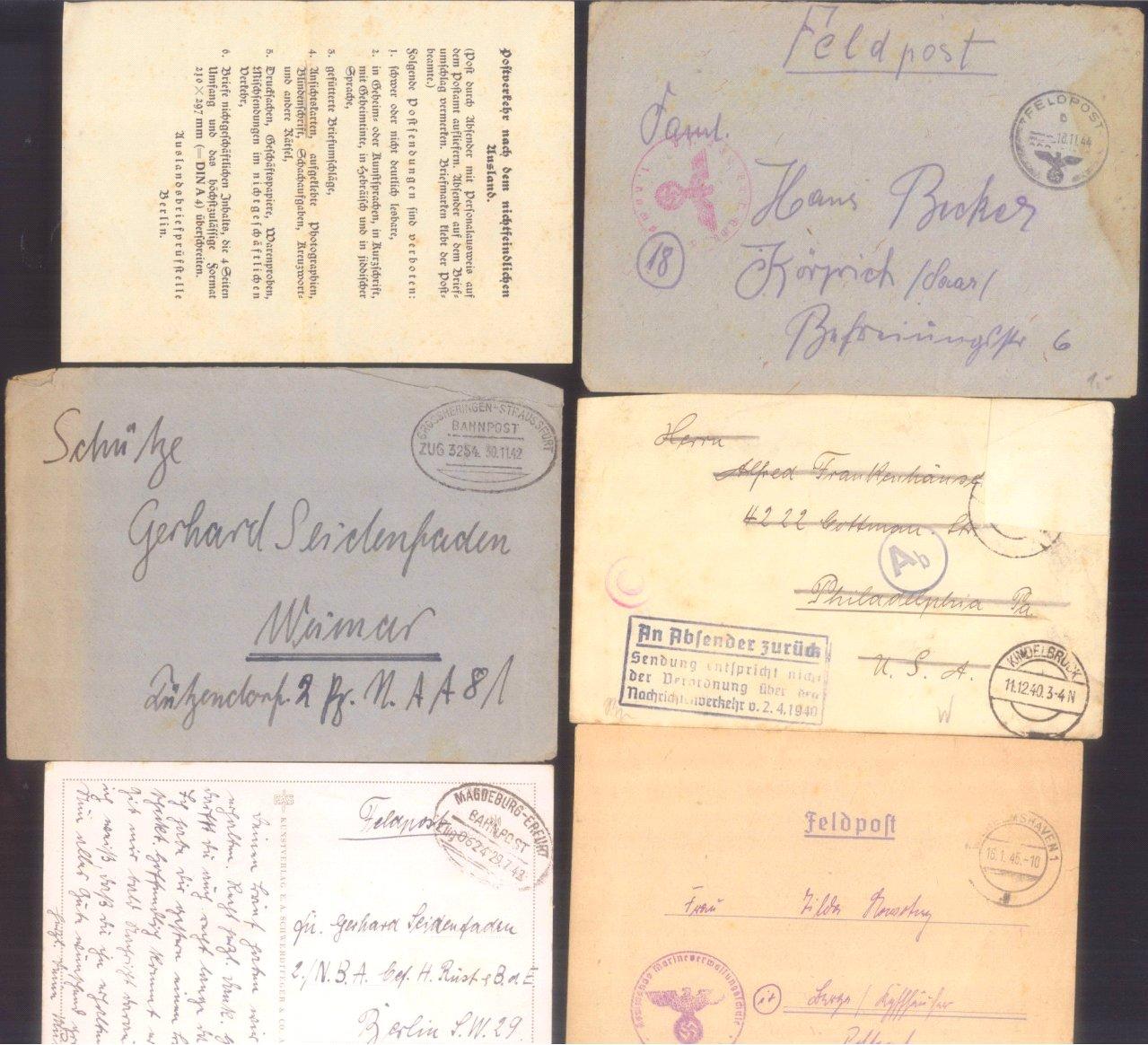 Ca. 70 Belege Feldpost und Kriegsgefangenenpost WK II-7