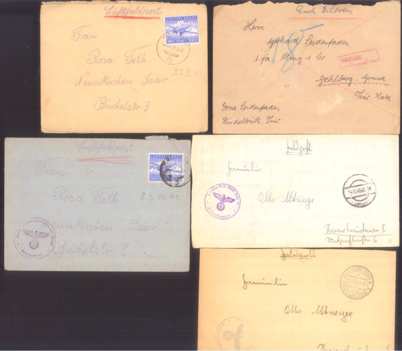 Ca. 70 Belege Feldpost und Kriegsgefangenenpost WK II-8