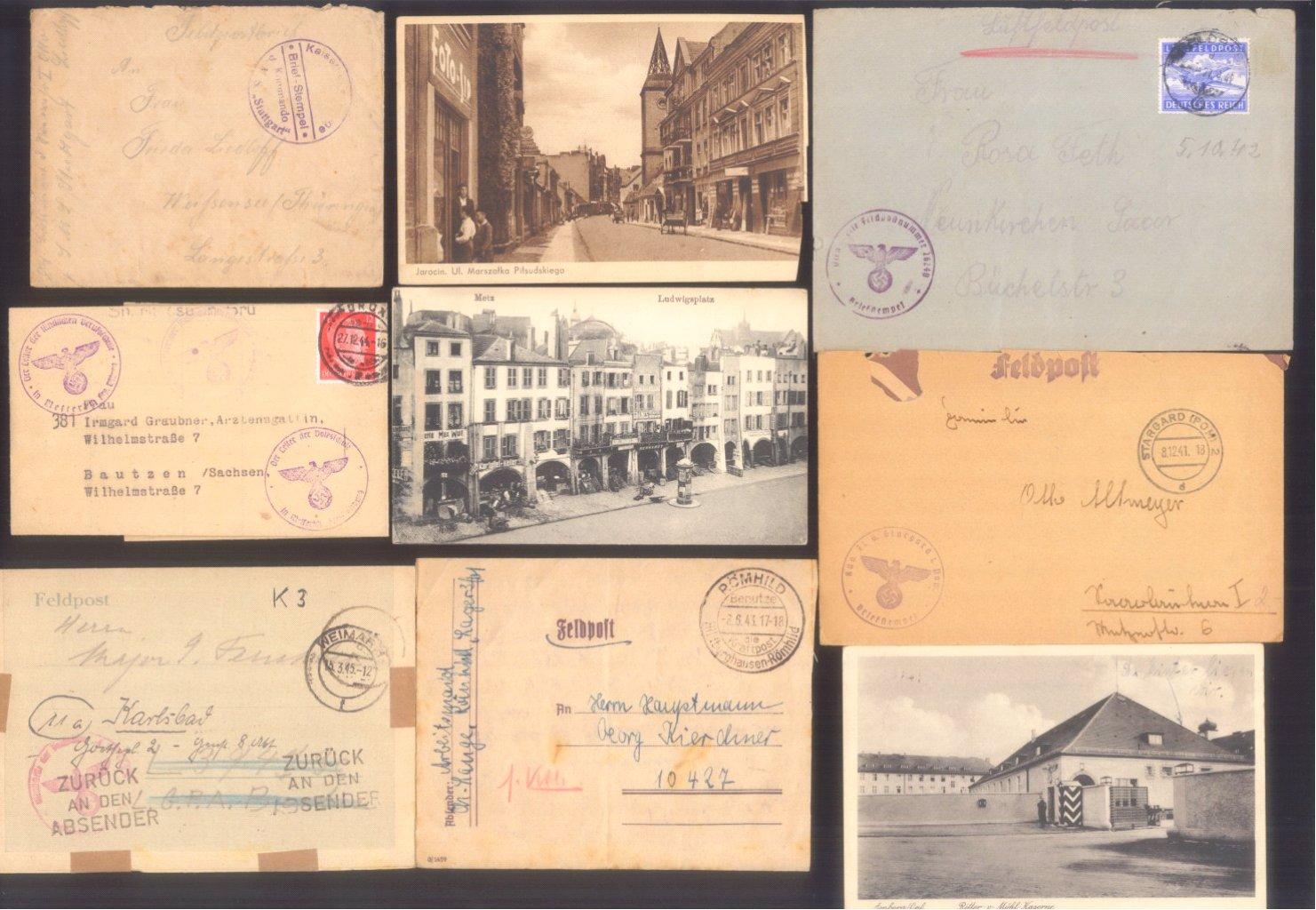 Ca. 70 Belege Feldpost und Kriegsgefangenenpost WK II-9