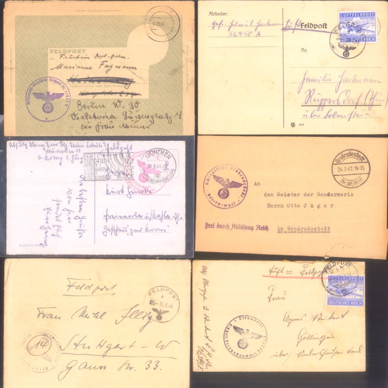 Ca. 70 Belege Feldpost und Kriegsgefangenenpost WK II-11