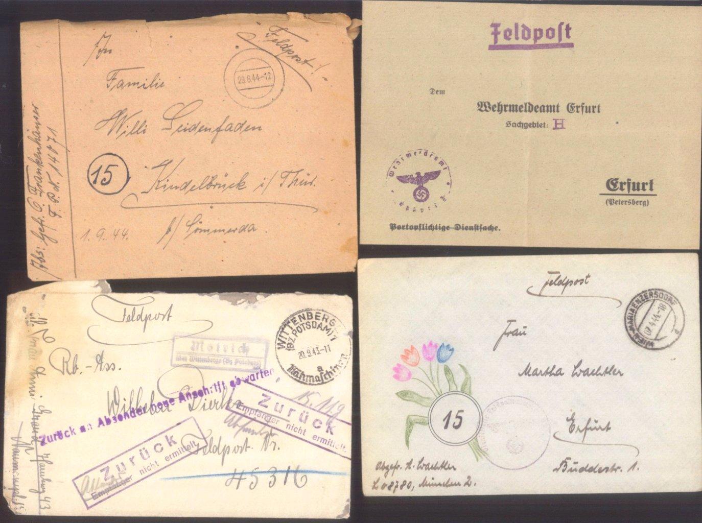 Ca. 70 Belege Feldpost und Kriegsgefangenenpost WK II-12