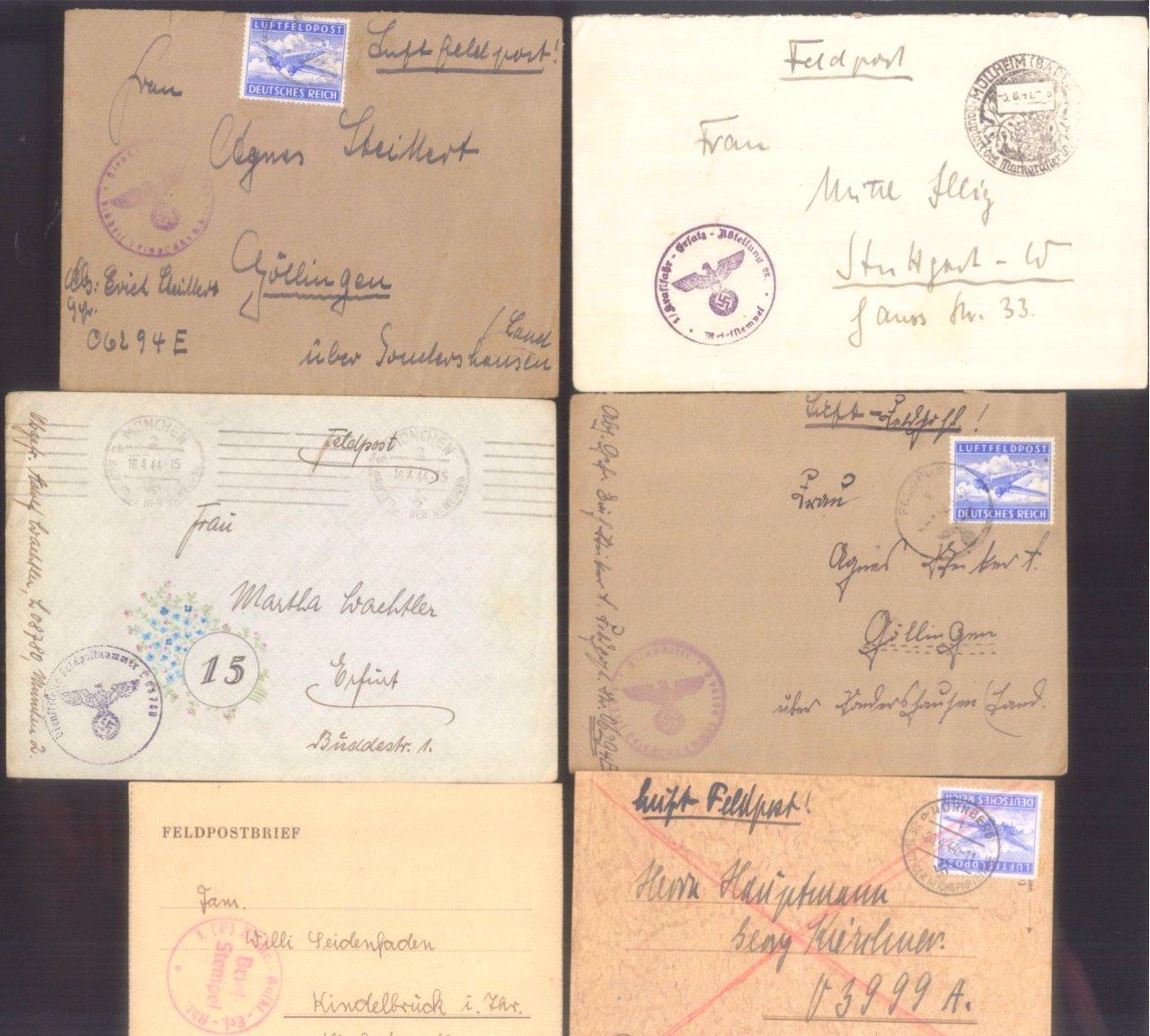 Ca. 70 Belege Feldpost und Kriegsgefangenenpost WK II-13