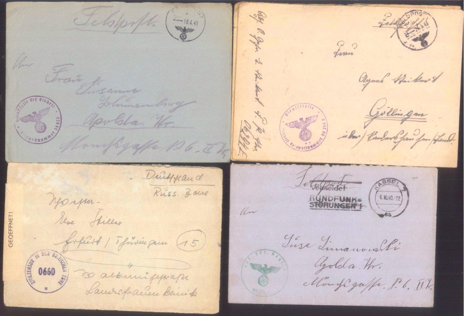 Ca. 70 Belege Feldpost und Kriegsgefangenenpost WK II-14