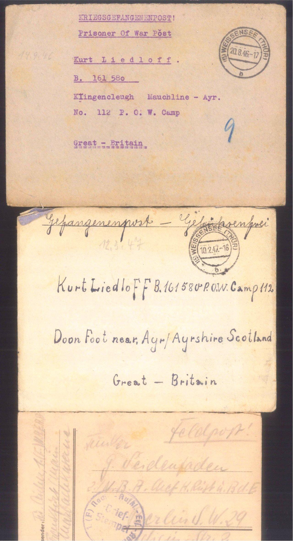 Ca. 70 Belege Feldpost und Kriegsgefangenenpost WK II-15