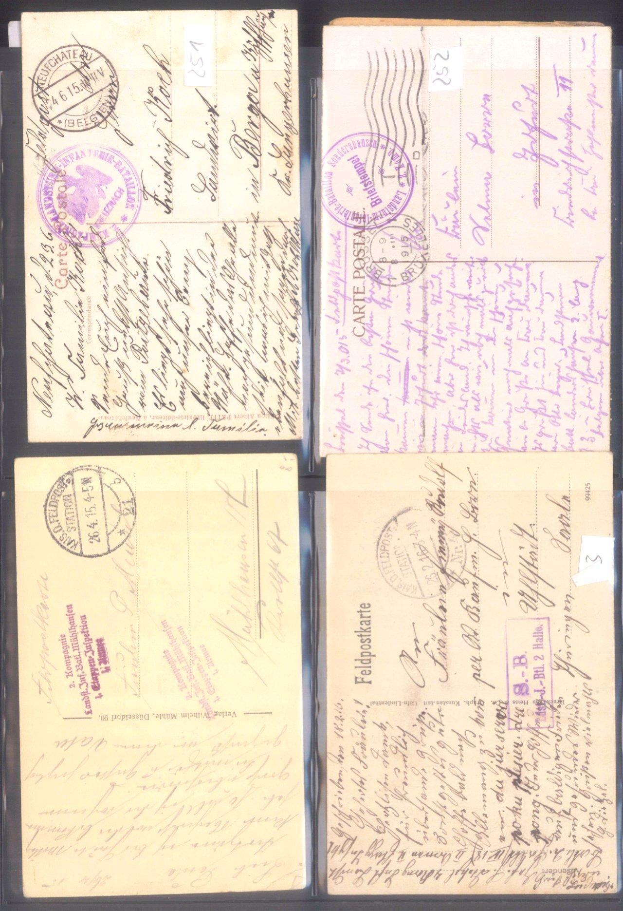 Sammlung Feldpostbelege und Feldpoststempel des WK I-14