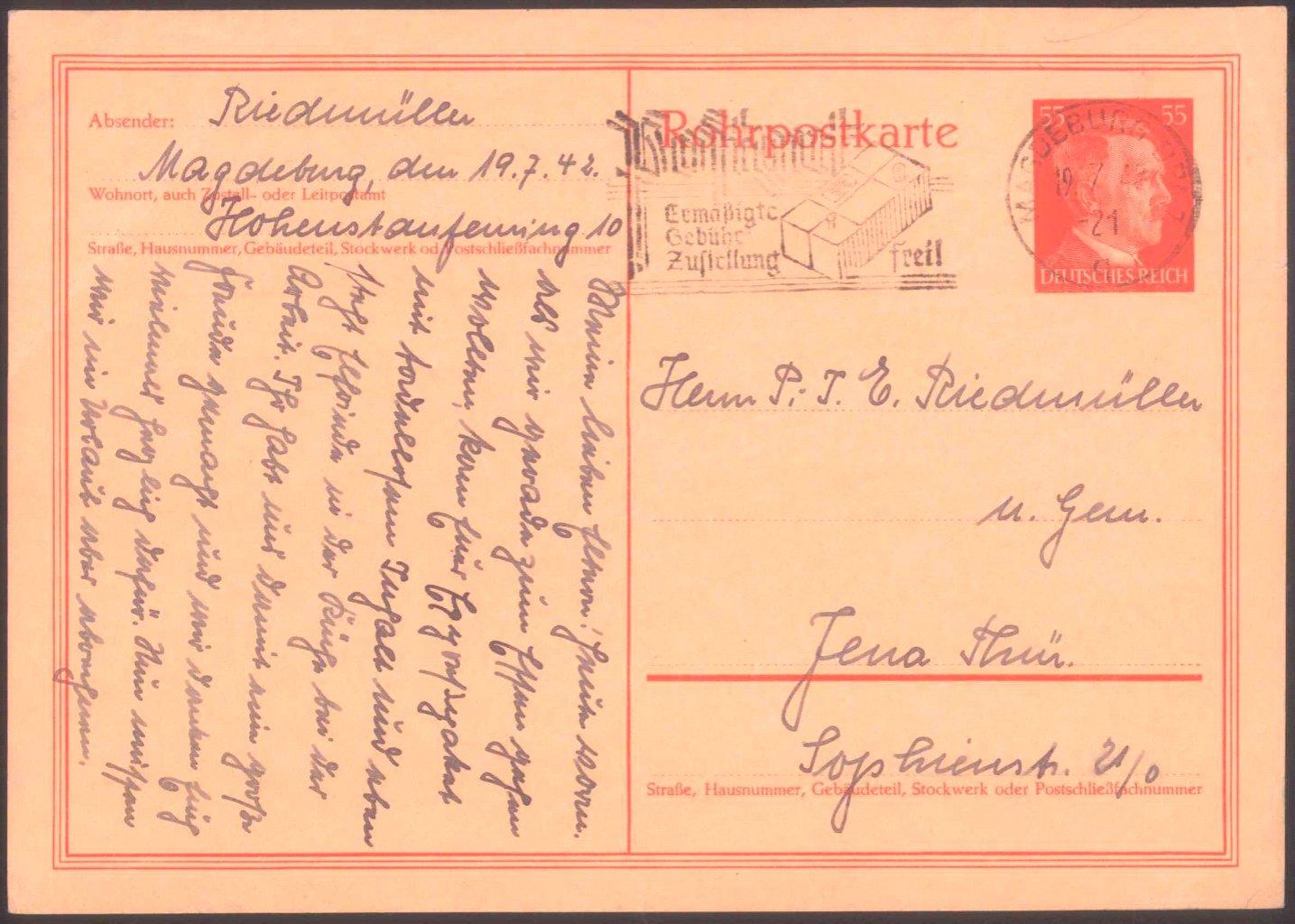 Deutsches Reich, Rohrpost 55 Pfg, RP 26