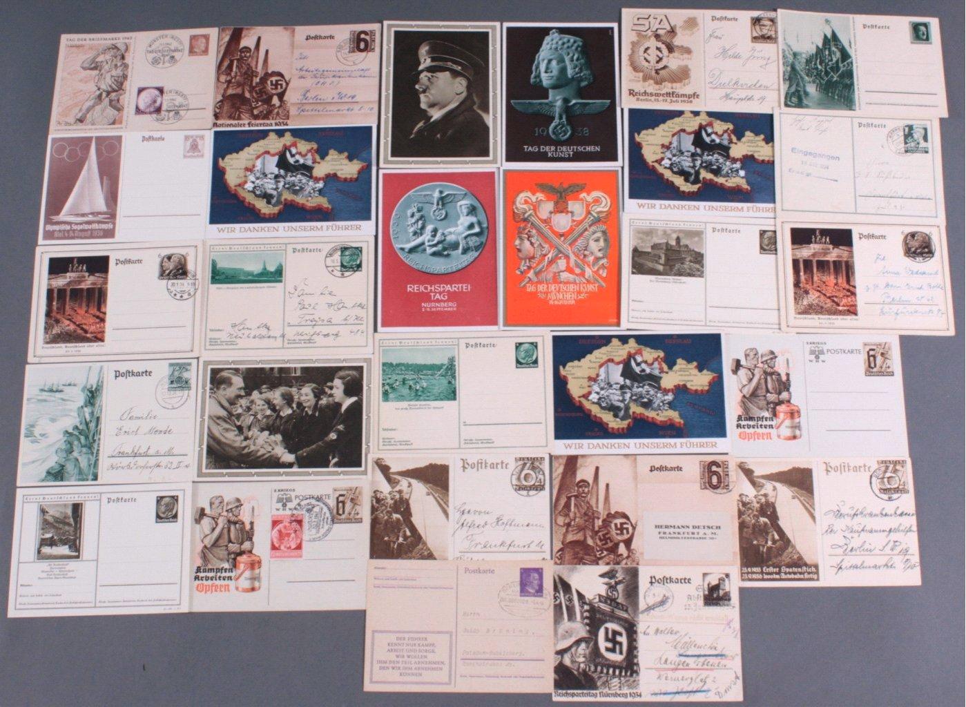 28 Postkarten / Ganzsachen III. Reich