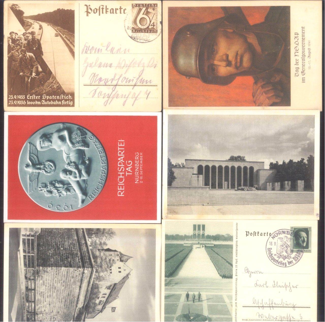 Über 30 Ganzsachen und Postkarten III. Reich