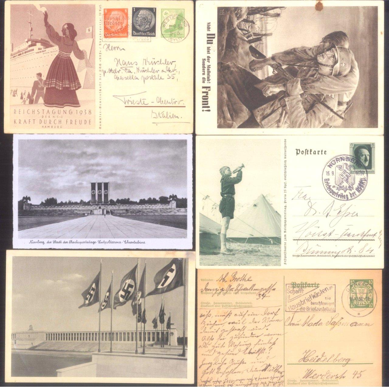 Über 30 Ganzsachen und Postkarten III. Reich-1