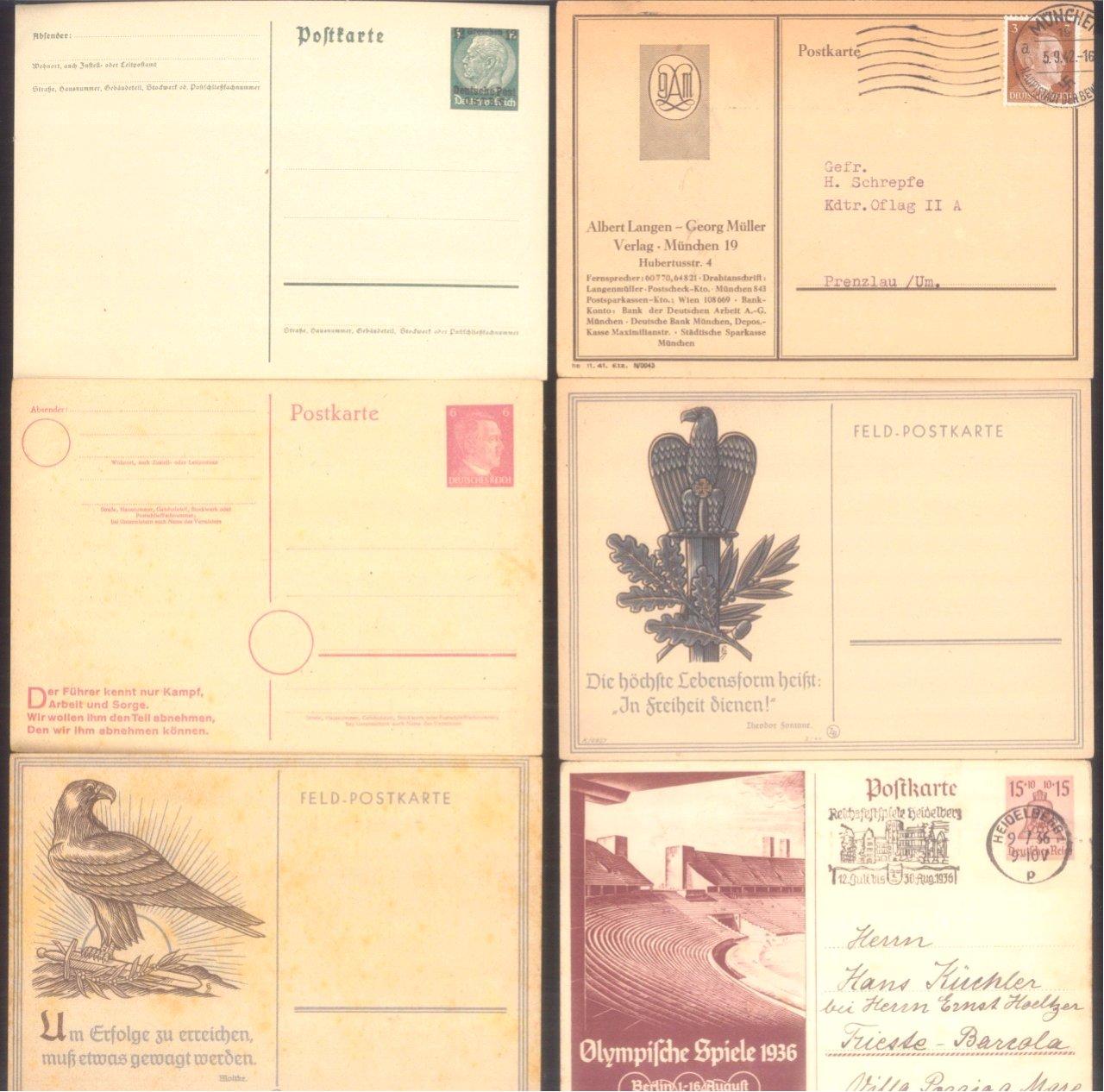 Über 30 Ganzsachen und Postkarten III. Reich-2