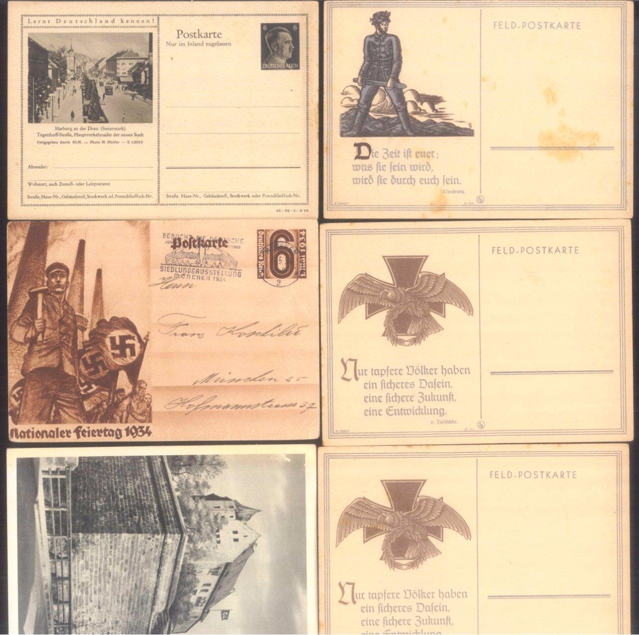 Über 30 Ganzsachen und Postkarten III. Reich-3