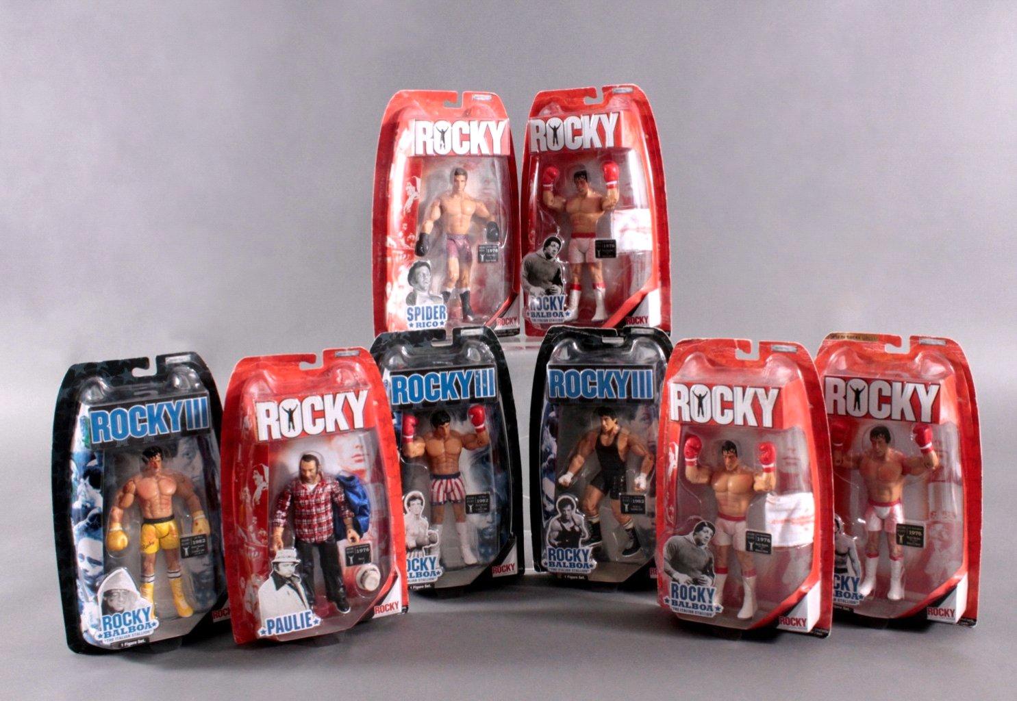 Rocky und Rocky III Action Figuren 8- Stück