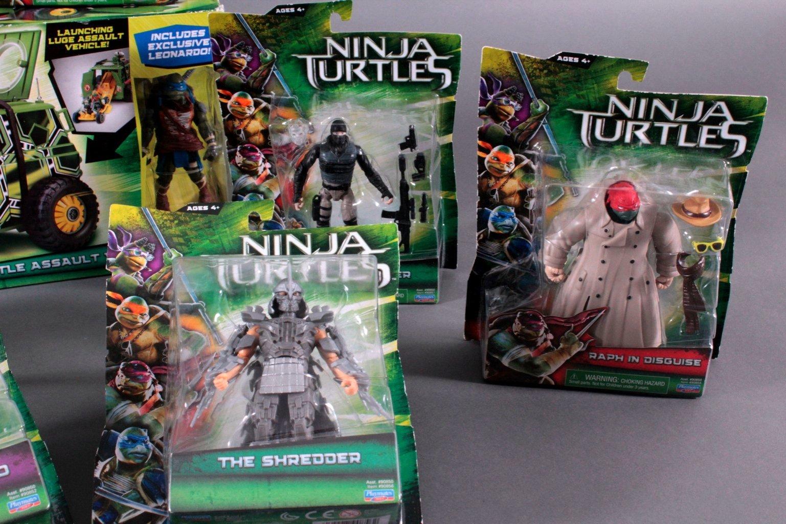 NINJA TURTLES Action Figuren und Zubehör 9 Teile-3