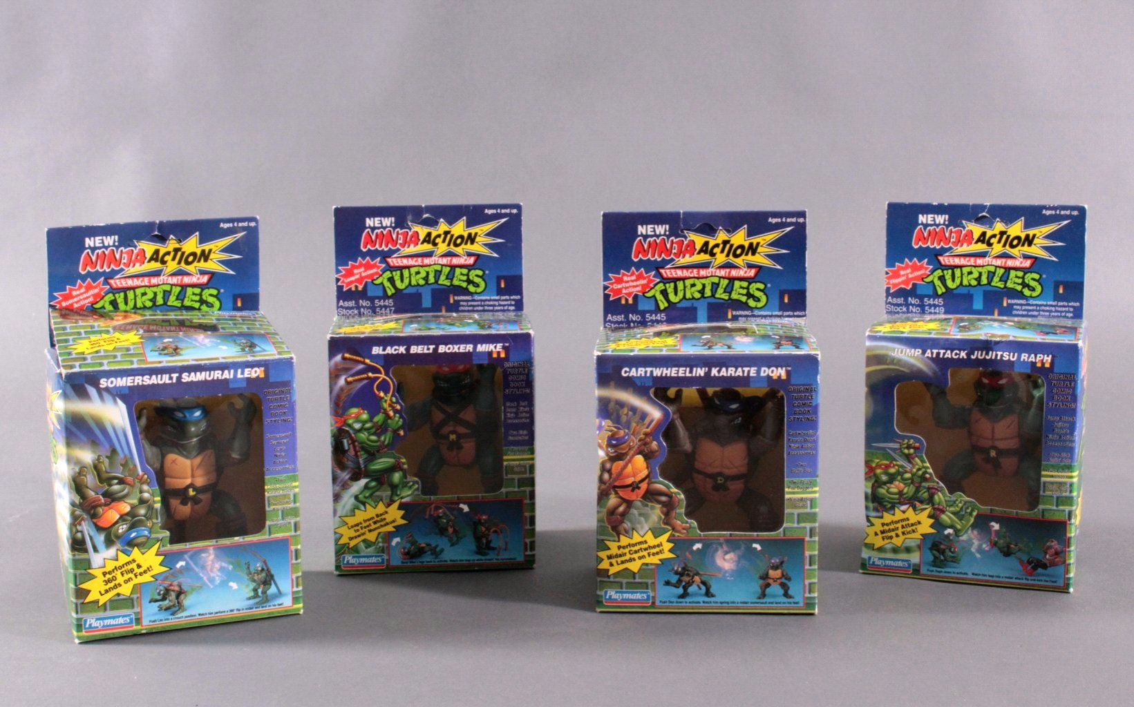 NINJA TURTLES Ninja Action Figuren 4 Stück